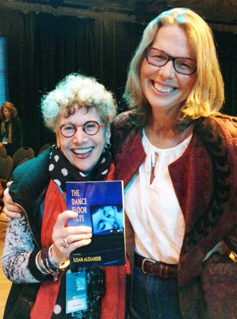 With Susan Alexander and her debut book of poetry at the Vancouver Writers Fest, 2017.